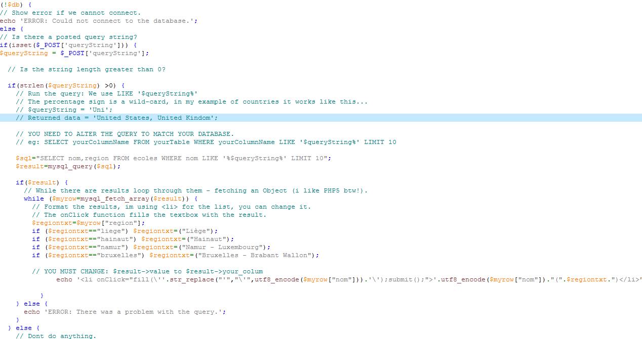 Un code sur mesure